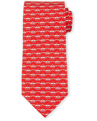 Whale print silk tie medium 705031