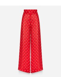 Christopher Kane Love Heart Print Palazzo Pants