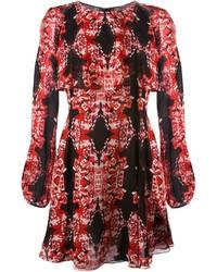 Giambattista valli sheer printed dress medium 375851