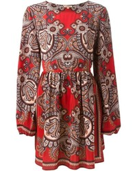 P.A.R.O.S.H. Flared Paisley Print Dress