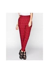 Full tilt ethnic print yoke skinny pants medium 77572