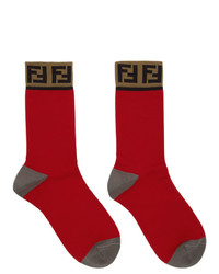 Fendi Red Forever Socks