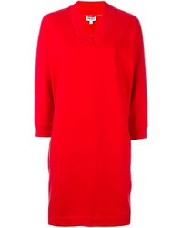 Kenzo Paris Print Sweatshirt Dress