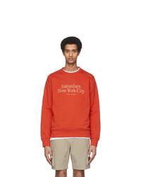 Saturdays Nyc Red Bowery Miller Standard Sweatshirt