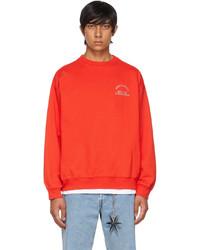 Rassvet Red Graphic Print Sweatshirt