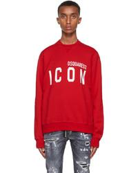 DSQUARED2 Red Icon Sweatshirt
