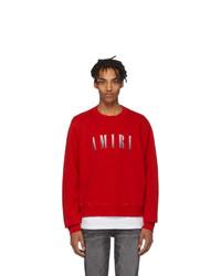 Amiri Red Logo Core Sweatshirt