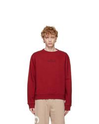 Maison Margiela Red Logo Sweatshirt