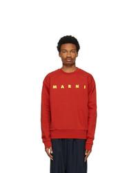 Marni Red Logo Sweatshirt