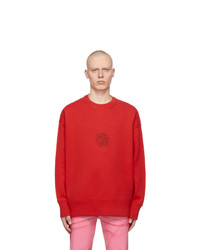 Givenchy Red Oversized Scorpion 4g Sweatshirt
