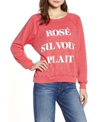 Wildfox Rose Sil Vous Plait Sommers Sweatshirt
