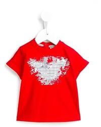 Armani Junior Graphic Print T Shirt