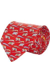 Salvatore Ferragamo Elephant Flag Print Tie