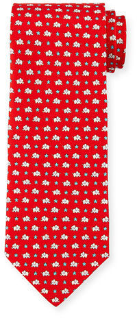 2b40e7eeb82b Salvatore Ferragamo Elephant Star Print Silk Tie, $190 | Neiman ...