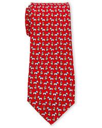 Pierre Cardin Puppy Print Silk Tie