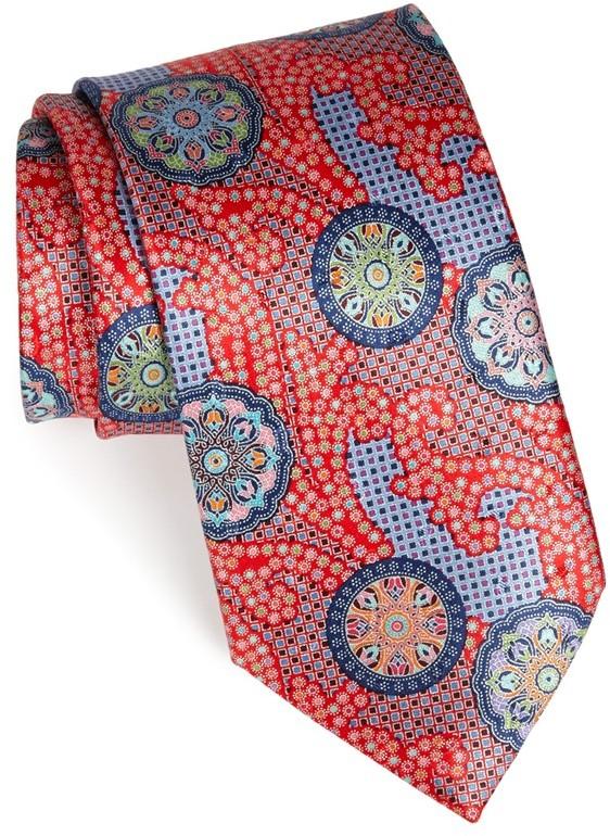 3be6e72c $275, Ermenegildo Zegna Quindici Print Silk Tie