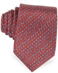 Lanvin Signature Printed Twill Silk Narrow Tie