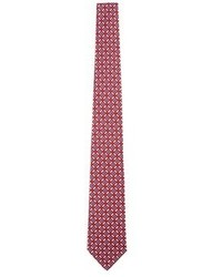 Isaia Square Floral Print Seven Fold Tie