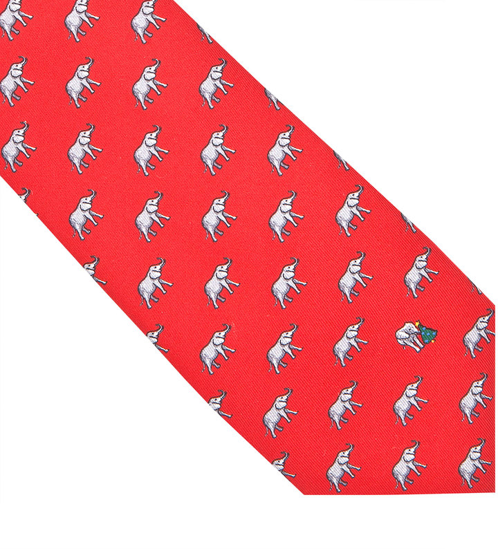 Thomas Pink Christmas Elephant Printed Tie | Where to buy & how to wear