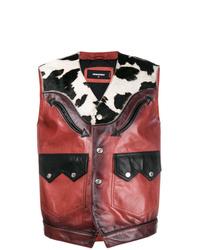 Red Print Waistcoat