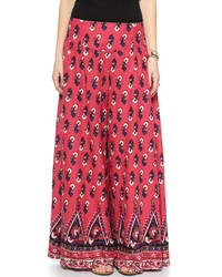 Linen printed extreme wide leg pants medium 321085
