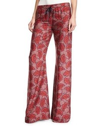 Serephine printed drawstring wide leg pants medium 5277213