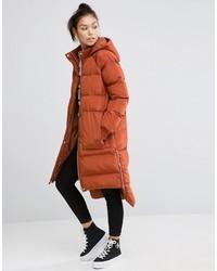 Asos Puffer Coat With Step Hem