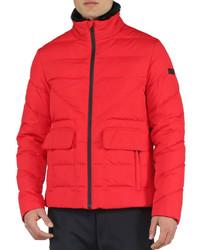 Fendi Basic Nylon Puffer Jacket Red
