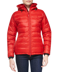 Canada Goose Camp Hooded Packable Puffer Jacket Red