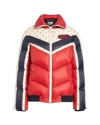 Gucci Floral Stripe Puffer Jacket