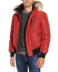 Florian down bomber jacket with genuine coyote medium 8647194