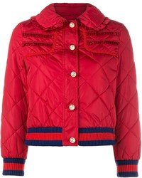 Gucci Frill Trim Puffer Jacket