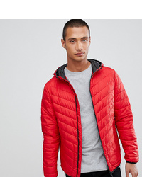 Tom Tailor Hooded Puffer Jacket In Red