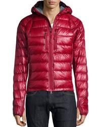Canada Goose Hybridge Lite Hooded Jacket Red