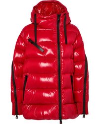 Moncler Liriope Hooded Quilted Glossed Shell Down Jacket