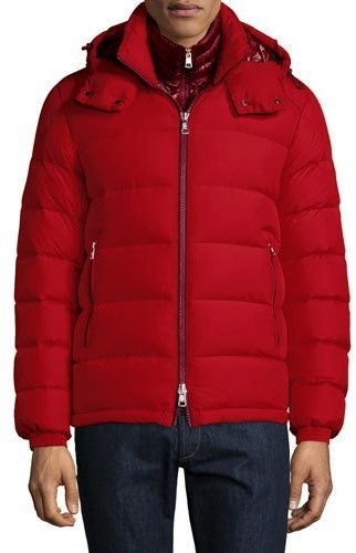 ... Moncler Moncler Brique Puffer Jacket W/Removable Liner, Red