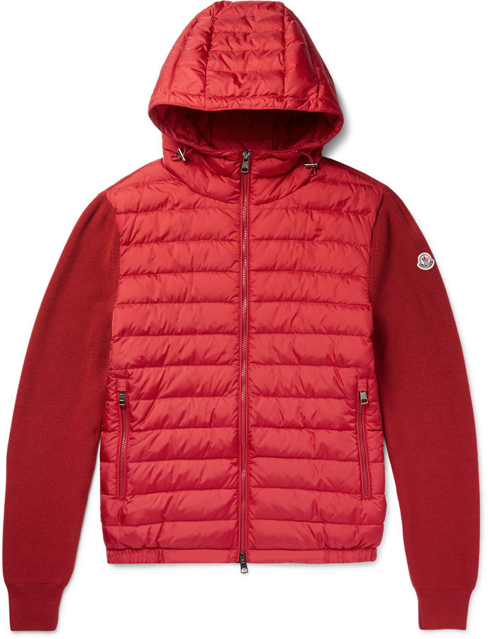 87f55bfa8e55 Moncler Moncler Maglione Wool-Blend And Shell Down Jacket   Where to ...