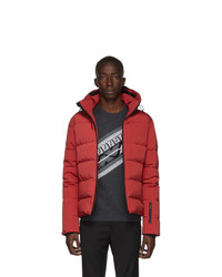 Fendi Red Down Diabolical Eyes Jacket
