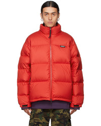 Vetements Red Logo Puffer Jacket