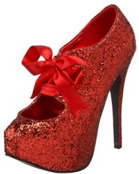 Pleaser USA Bordello By Pleaser Teeze 10 Glitter Platform Pump