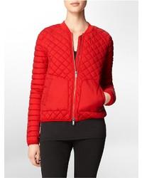 Calvin Klein Quilted Zip Front Bomber Jacket