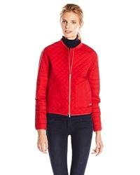 Calvin Klein Jeans Quilt Mix Zip Jacket
