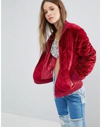 Quilted velvet bomber jacket medium 849701