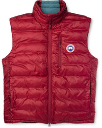Junya Watanabe Quilted Nylon Corduroy And Leather Gilet ...