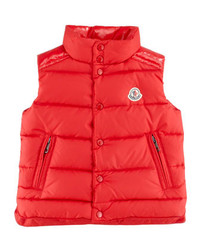Moncler Quilted Down Vest Red Sizes 8 10