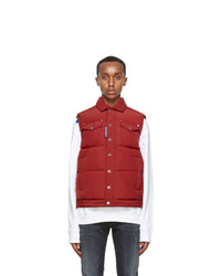 DSQUARED2 Red Down Quilted Vest