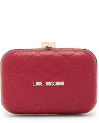 Love Moschino Quilted Box Clutch