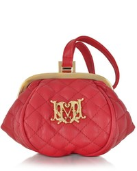 Love Moschino Quilted Eco Leather Mini Clutch