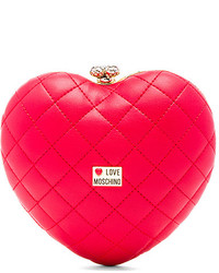 Love Moschino Quilted Heart Box Clutch