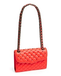 Red Quilted Leather Crossbody Bag